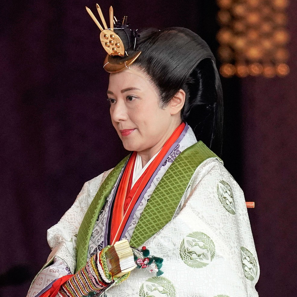 A imperatriz japonesa Masako  — Foto: Kimimasa Mayama / Pool Photo / via AP Photo