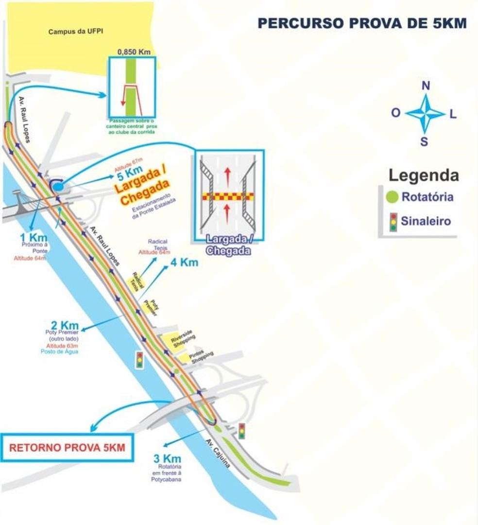 Percurso 5km (Foto: TV Clube)