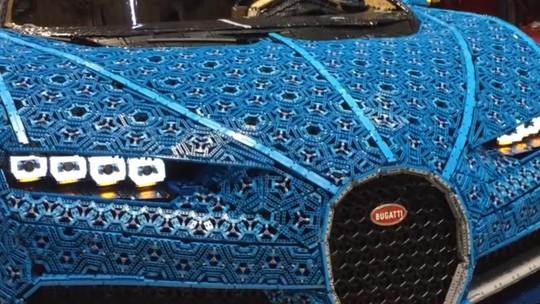 Bugatti de Lego é atração no Salão de Paris 2018; G1 mostra detalhes em vídeo