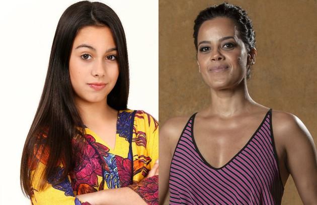 Manu Fernandes e Maeve Jinkings interpretarão Zenaide, irmã de Maria da Paz (Mirella Sabarense/Juliana Paes) (Foto: Divulgação / TV Globo)