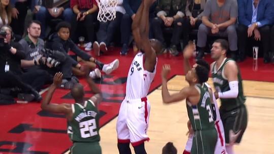 Toronto vence e empata final do Leste com os Bucks; veja o Top 5 do jogão