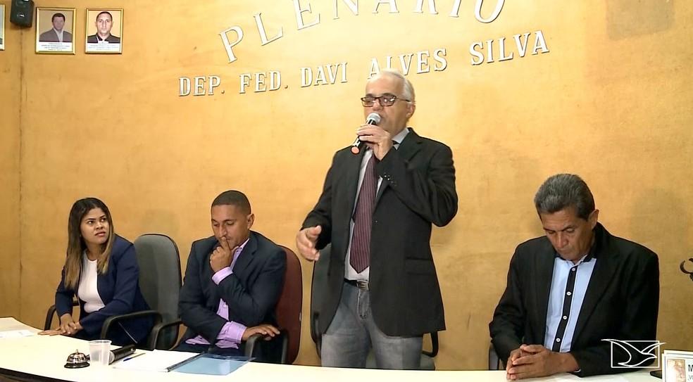 José Rubem Firmo assumiu prefeitura após morte de Ivanildo Paiva — Foto: Reprodução/TV Mirante