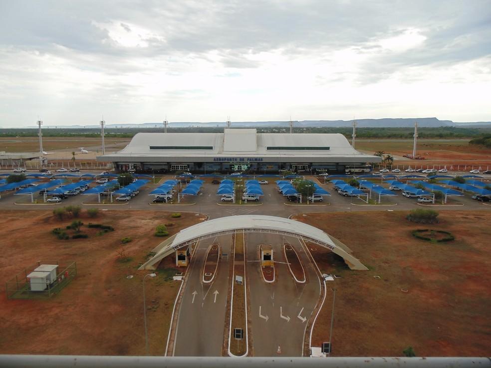 Aeroporto Brigadeiro Lysias Rodrigues, em Palmas (Foto: Divulgação/ Infraero)