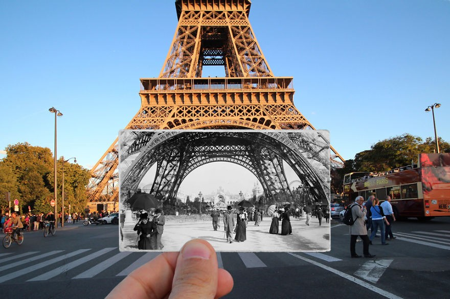 Torre Eiffel, 1900 (Foto: Julien Knez)