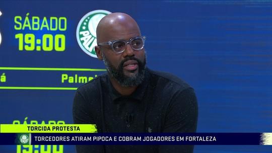 """Grafite estranha protesto da torcida do Palmeiras: """"A gente não sabe a real intenção"""""""