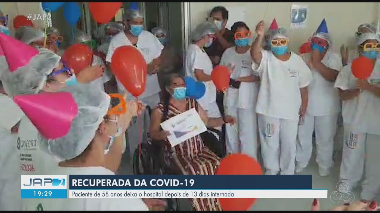 Mulher de 58 anos deixa o hospital após 13 dias internada por causa da Covid-19