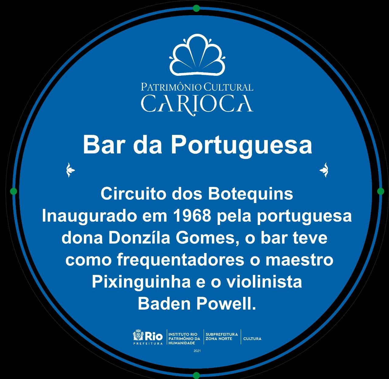 A placa concedida ao estabelecimento de Ramos