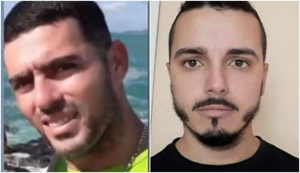 Héder Henrique, de 32 anos, e Luiz Paulo dos Santos França, de 29 anos, foram sequestrados na Comunidade do Lixo, em Cabo Frio, no RJ — Foto: Reprodução/ESTV/ Arquivo Pessoal