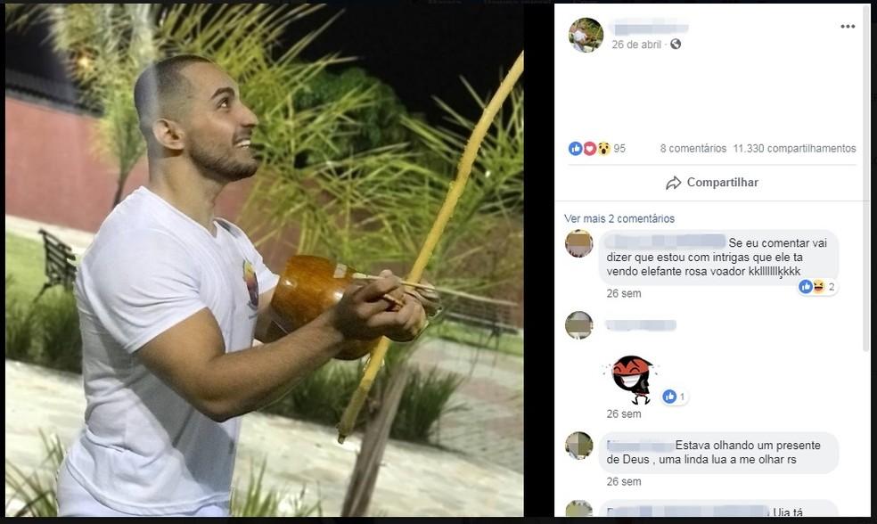 Michel Silva, acusado de matar Rayane — Foto: Reprodução/Facebook