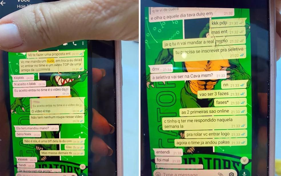 Polícia apreende celular de treinador suspeito de pedir 'nude' a adolescentes em troca de vaga em time de futebol de Ribeirão Preto — Foto: Michelle Souza/CBN Ribeirão Preto