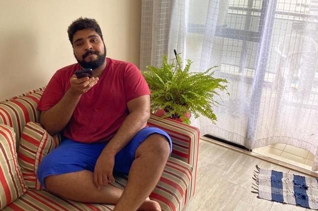 Paulo Vieira na sua casa (Foto: Arquivo pessoal)