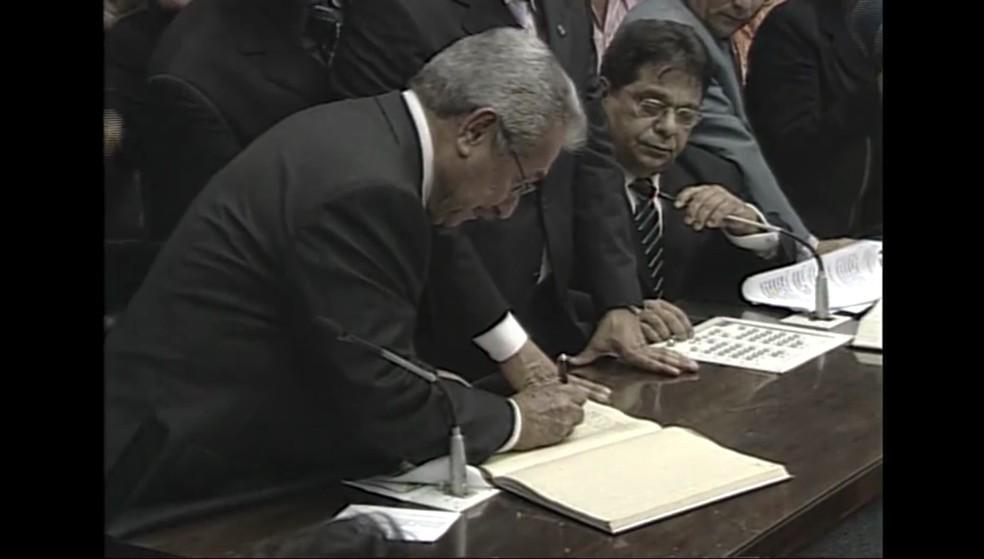 Maranhão voltou ao Governo da Paraíba em 2009, após cassação de Cássio Cunha Lima — Foto: TV Cabo Branco/Reprodução