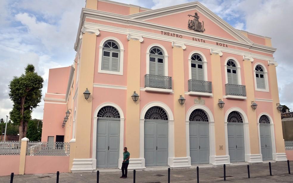 Teatro Santa Roza, em João Pessoa — Foto: Walter Rafael/Secom-PB