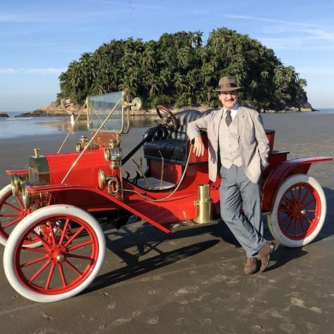 Antonio Calloni na Praia do José Menino, em Santos (Foto: Arquivo pessoal)