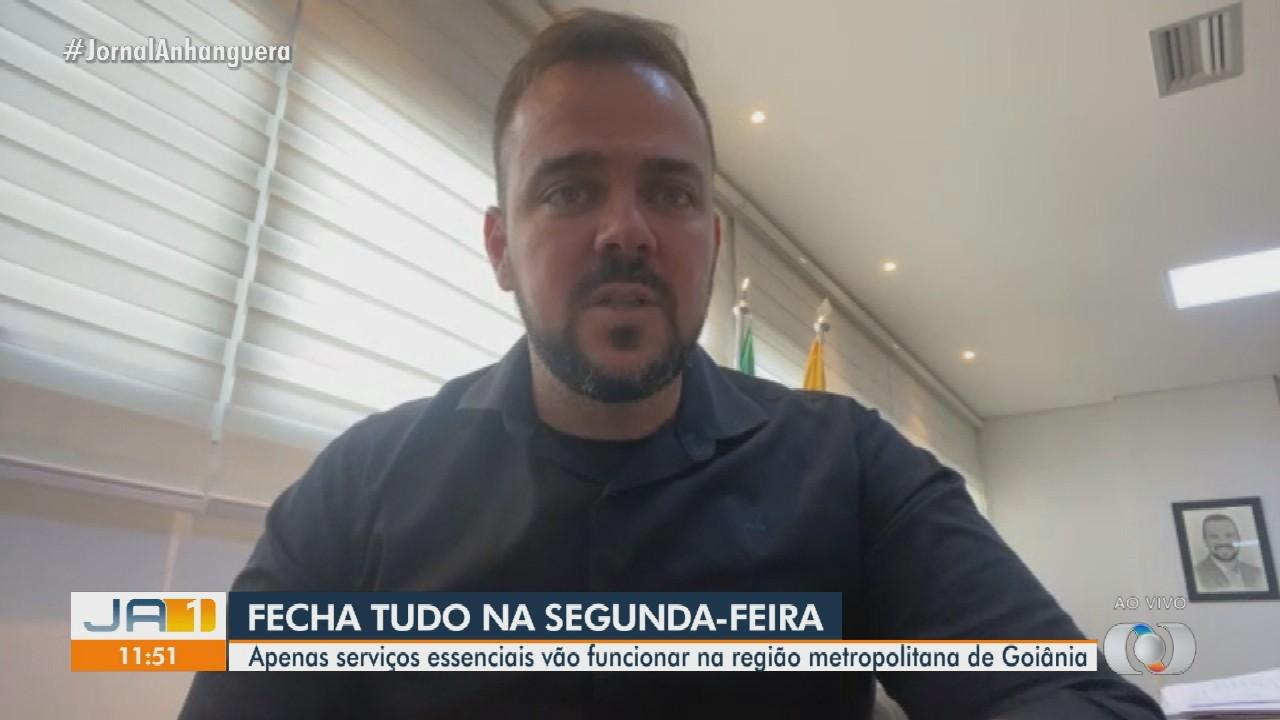 Prefeito de Aparecida de Goiânia fala sobre fechamento do comércio pelos próximos 7 dias