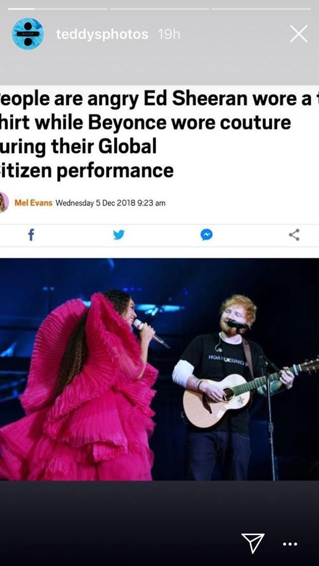 Ed Sheeran (Foto: Reprodução / Instagram)