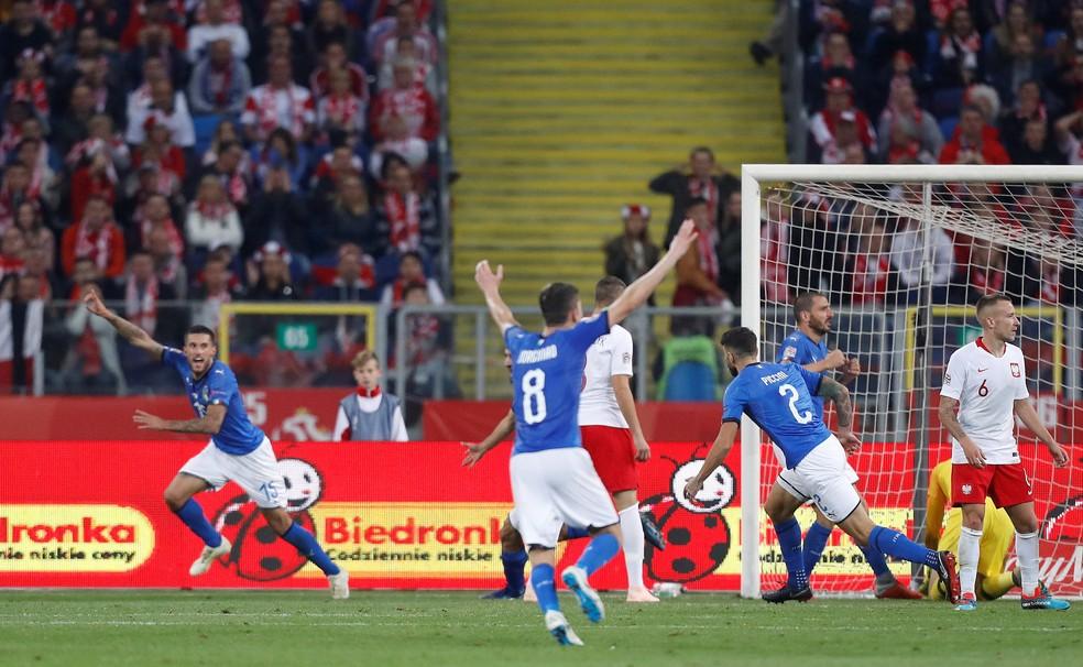 Nos Acrescimos Italia Vence A Polonia Fora De Casa E Respira Na Liga Das Nacoes Futebol Internacional Ge