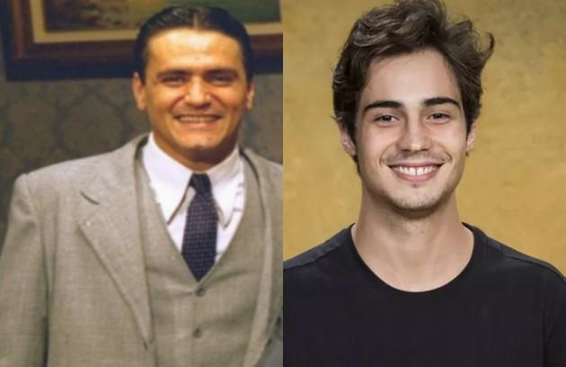 Danilo Mesquita será Carlos, um dos quatro filhos da protagonista. Jandir Ferrari interpretou o mesmo personagem (Foto: SBT/ TV Globo)
