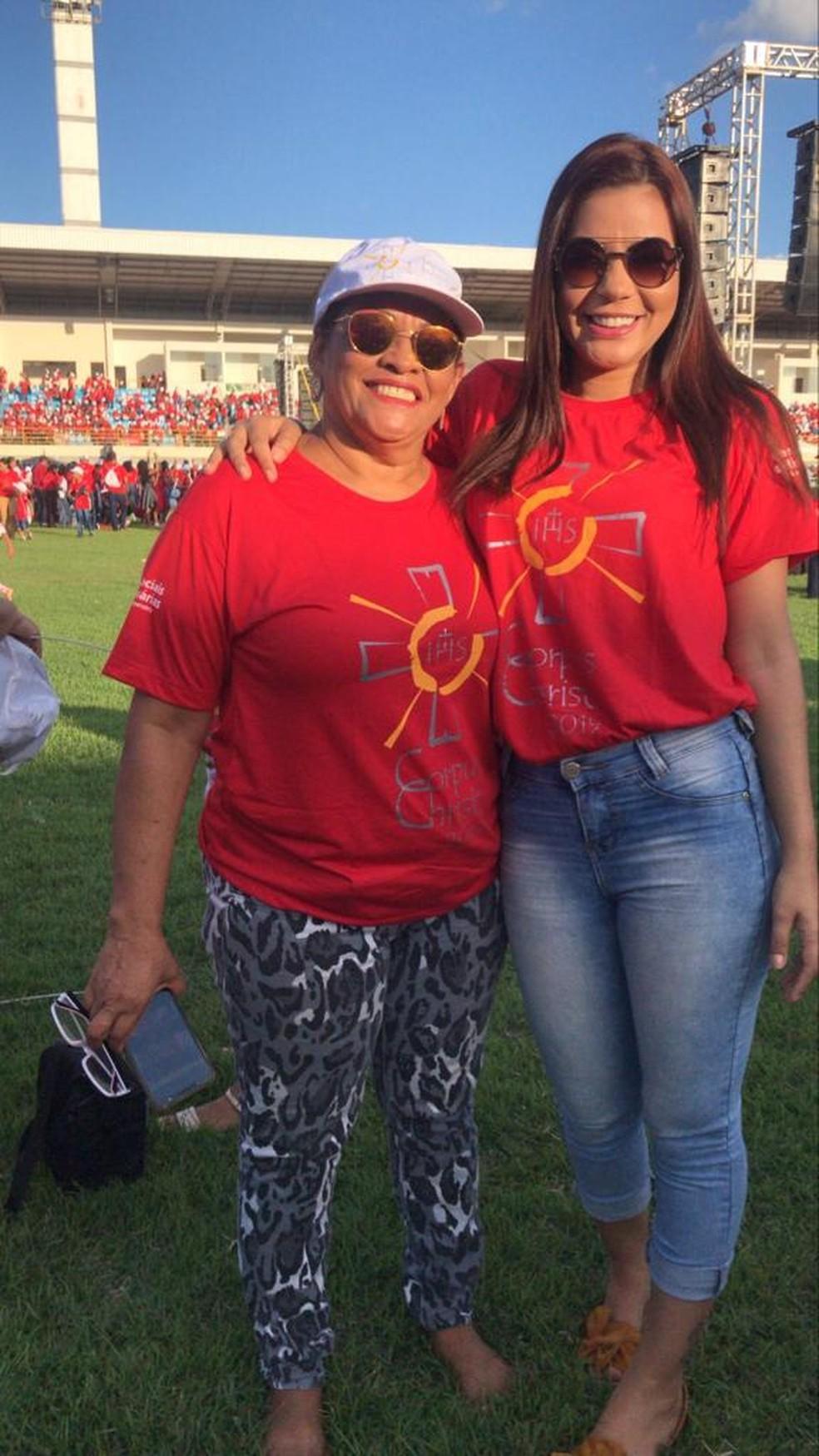 30 anos depois do Varig 254, Regina Célia e Ariadne Ramos vivem em Imperatriz (MA) — Foto: Ariadne Ramos/Arquivo pessoal