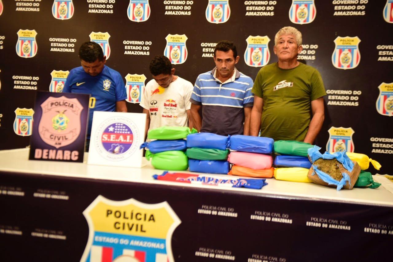 Grupo é preso com 15 Kg de maconha na Zona Leste de Manaus