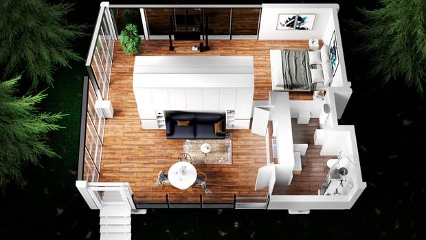Projeto interno da casa inteligente e sustentável  (Foto: Divulgação)