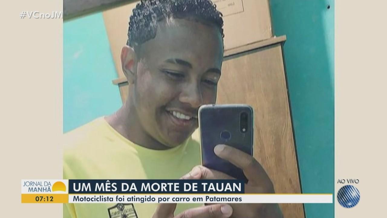 Morte do motociclista Tauan Silva completa um mês nesta quinta e família pede justiça