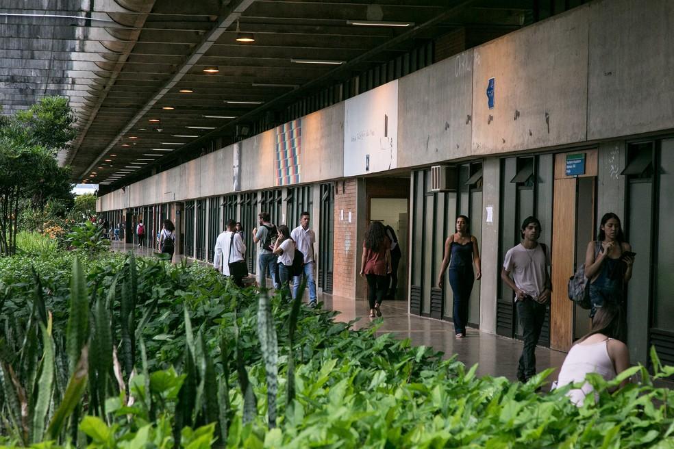 Alunos no Instituto Central de Ciências (ICC) da Universidade de Brasília (UnB) — Foto: Secom/UnB