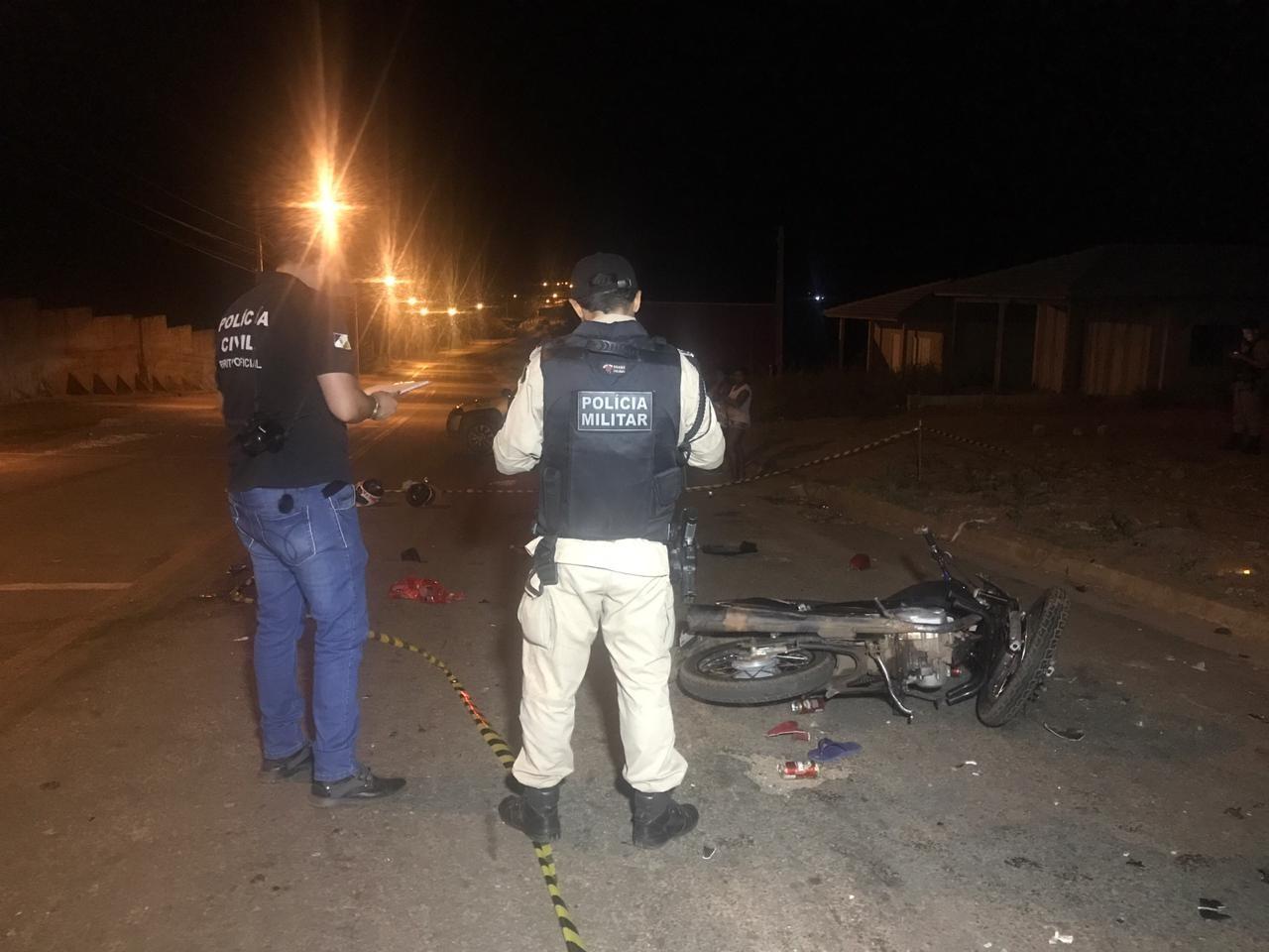Vídeo mostra momento exato em que motocicletas batem de frente; acidente deixou um morto e três feridos - Notícias - Plantão Diário
