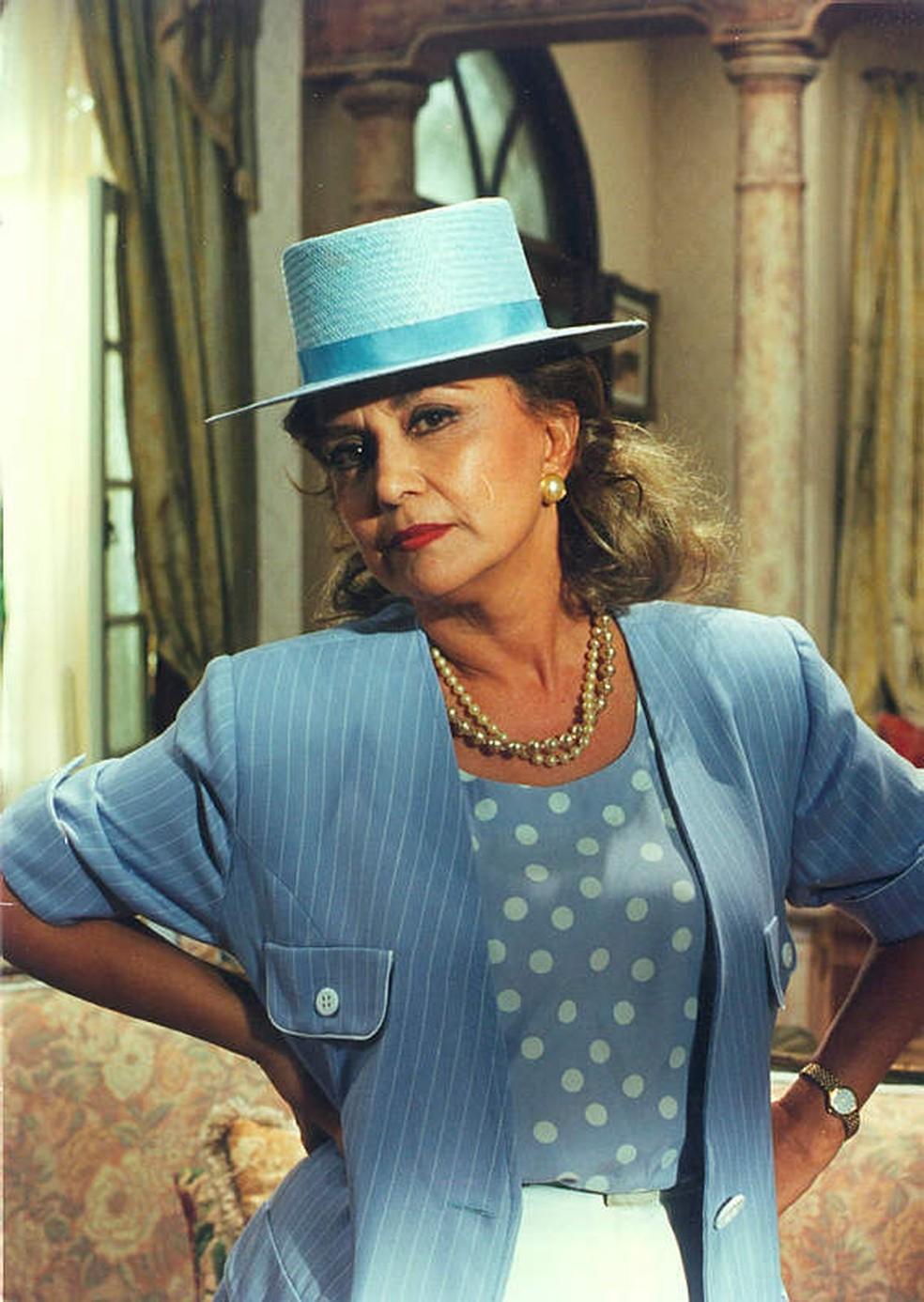 Eva Wilma em 'A Indomada', de 1997 — Foto: Acervo/TV Globo