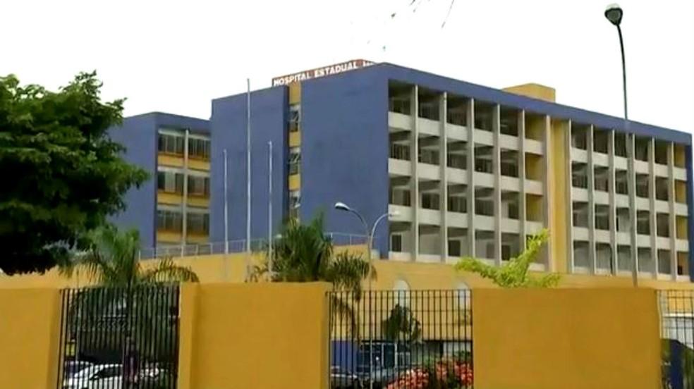 Hospital Estadual de Bauru (HEB) — Foto: TV TEM/Reprodução