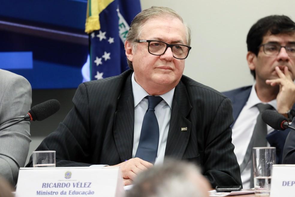 O ex-ministro da Educação, Ricardo Vélez Rodríguez. — Foto: Cleia Viana/Câmara dos Deputados