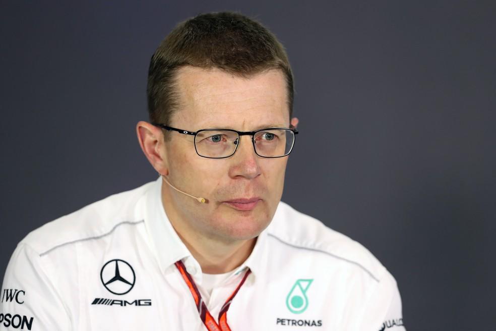 Andy Cowell é chefe de alta performance da Mercedes — Foto: Getty Images