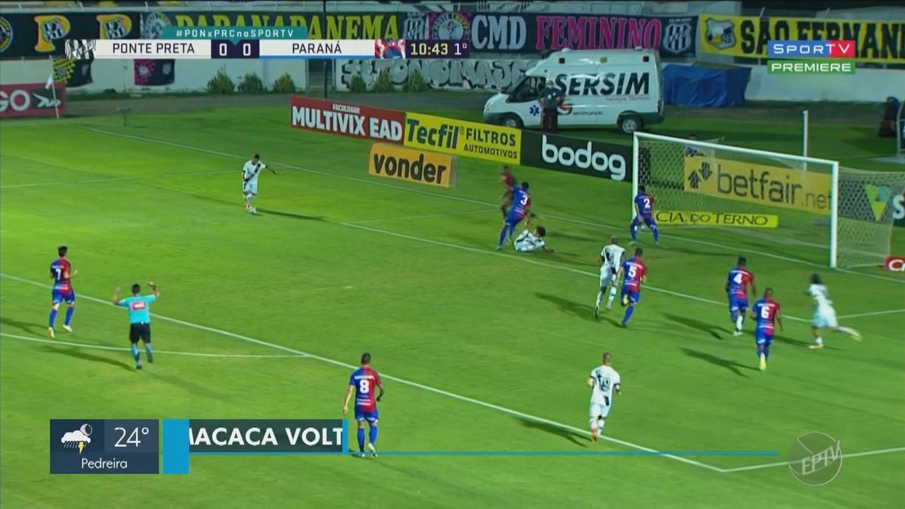 Ponte Preta bate o Paraná depois de dois jogos sem vitória