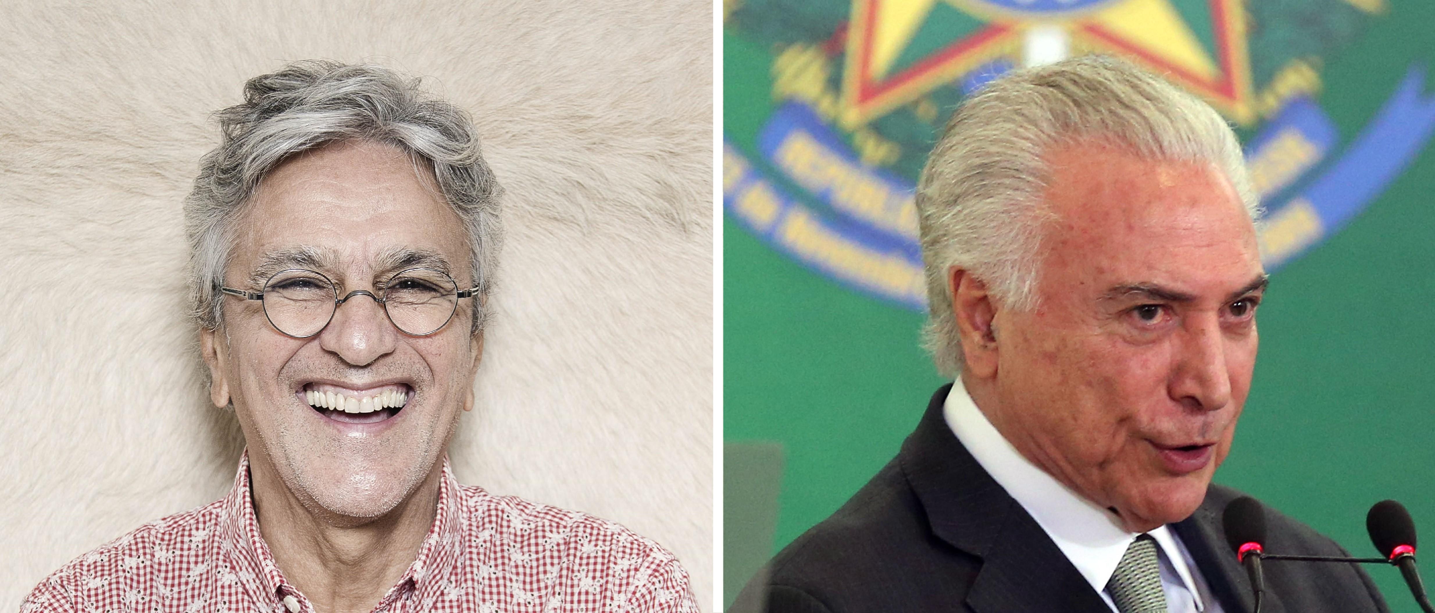 Caetano Veloso e Michel Temer