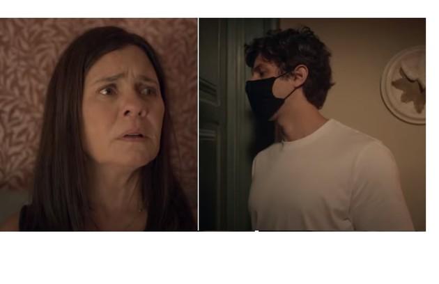 Thelma será investigada. Danilo é quem avisará à mãe que ela está sendo procurada por uma inspetora (Foto: Reprodução)