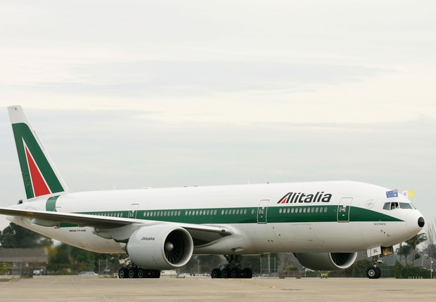 Aeronave da Alitalia (Foto: World Youth Day via Getty Images)