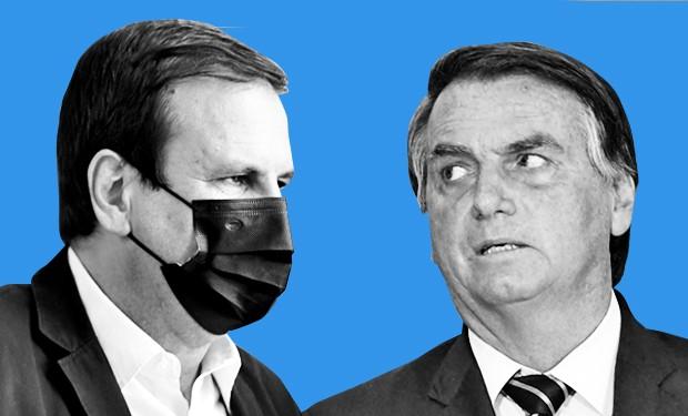 Eduardo Paes e Bolsonaro vem trocando farpas recentemente