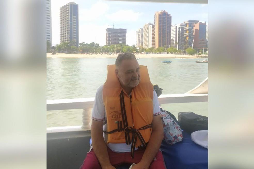 Domingos Sávio é um dos cinco amigos desaparecidos em lancha que saiu do Rio de Janeiro rumo a Fortaleza. — Foto: Arquivo pessoal
