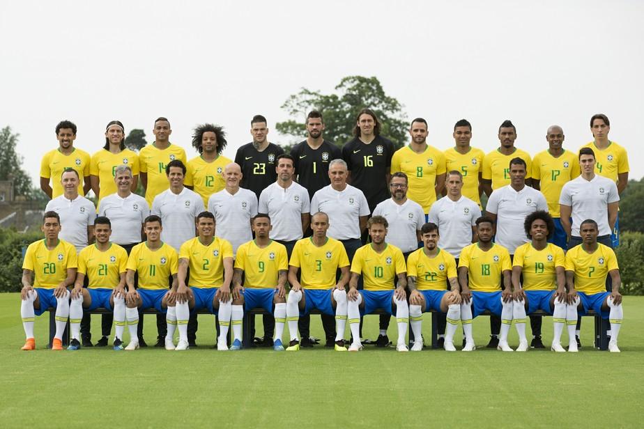A foto oficial da Seleção para a Copa