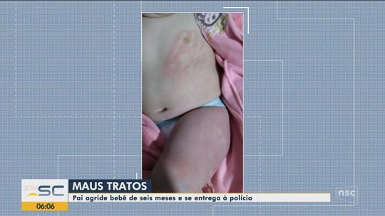 Pai se entrega à polícia após agredir bebê de seis meses em Porto Belo