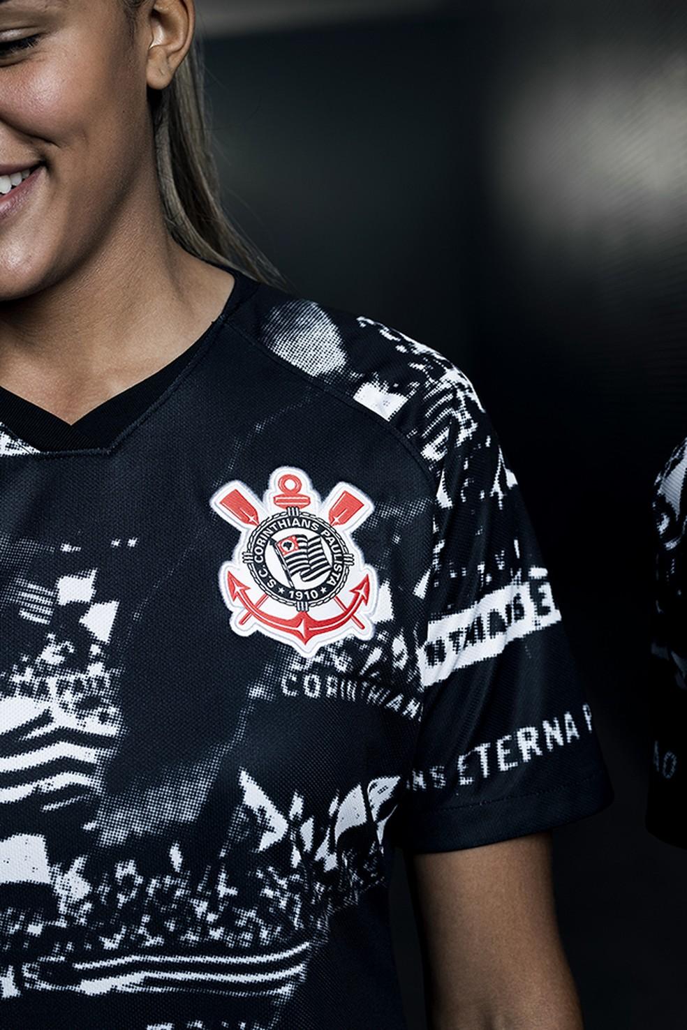 Fotos do lançamentoda nova terceira camisa do Corinthians — Foto: Divulgação/Nike