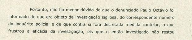 Trecho do documento encaminhado pelo Ministério Público à Polícia Civil (Foto: Reprodução)