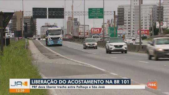 Tráfego de veículos leves no acostamento do sentido Norte da BR-101 deve ser liberado na Grande Florianópolis