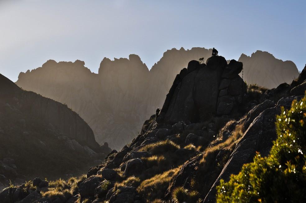 Pico das Agulhas Negras, em Itatiaia, no sul do RJ, ponto mais alto do estado.  — Foto: Adriana Mattoso/PNI