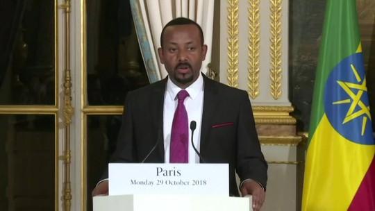 Primeiro-ministro da Etiópia recebe Prêmio Nobel da paz