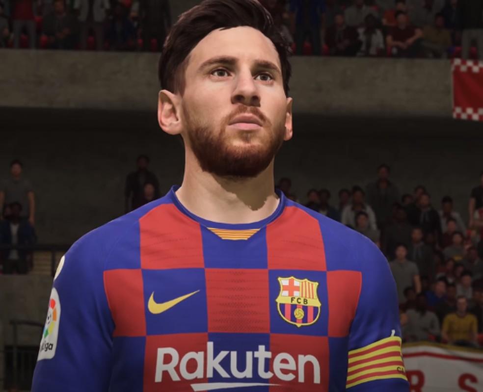 Messi no FIFA 20 — Foto: Reprodução/YouTube