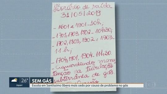 Problema na tubulação de gás em escola prejudica alunos em Santíssimo