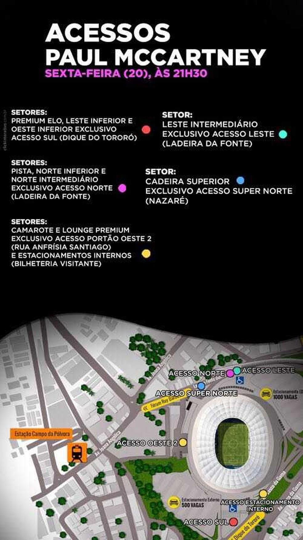 Conheça as formas de acesso do público à Arena Fonte Nova (Foto: Divulgação)