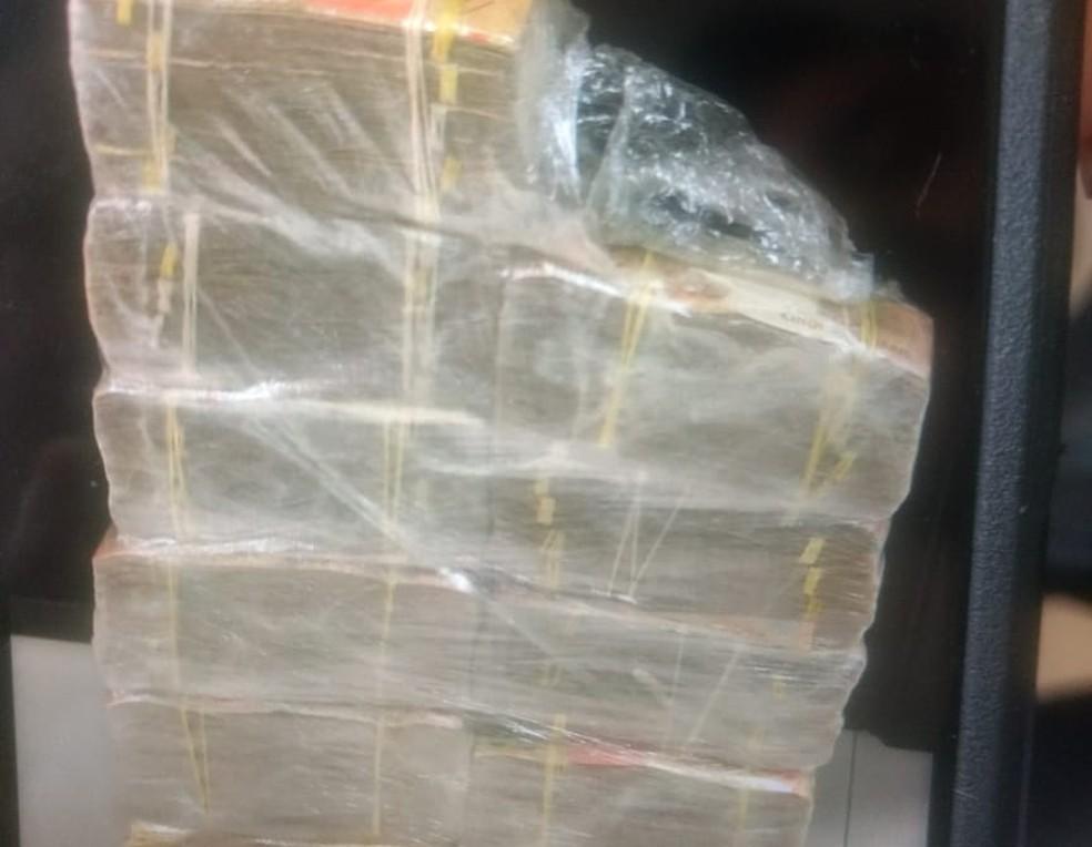 Cerca de R$ 300 mil foram apreendidos com o suspeito em Caruaru — Foto: PF/Divulgação