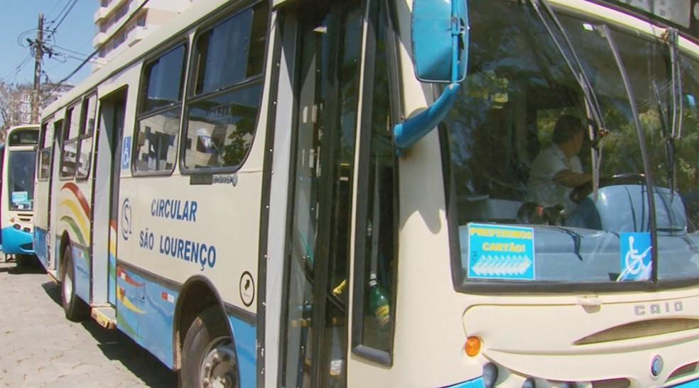 Contrato de teste para transporte coletivo desagradou moradores e empresa em São Lourenço — Foto: Reprodução/EPTV